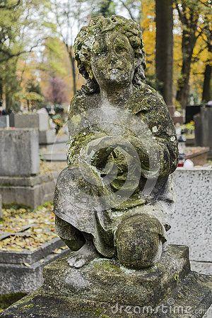 Cherubin  on the Tomb in Rakowicki cemetary in Krakow.