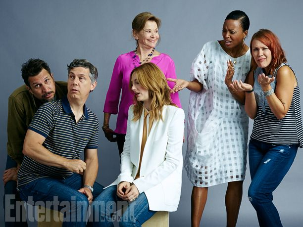 Lucky Yates, Chris Parnell, Judy Greer, Jessica Walter, Aisha Tyler, Amber Nash, 'Archer' #EWComicCon  Image Credit: Michael Muller for EW