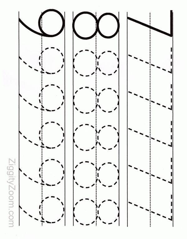 Number Tracing Worksheet 7 - 9   Ziggity Zoom