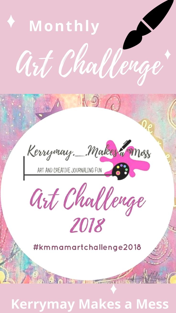 12 months of art journaling challenges, one challenge a month with prompts and a place to share and win prizes over on my Facebook group Kerrymay Makes a Mess - Kerrymay._.Makes