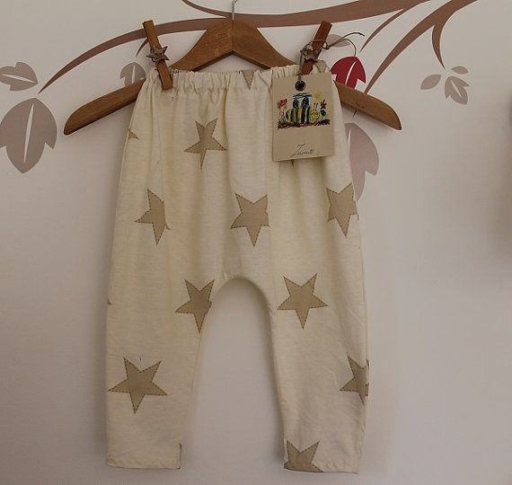Baby pyjamas,Cotton harem pants,,beige soft night suit, children clothing, baby jogger  This listing is a lovely baby pants. Comfortable, trendy, soft