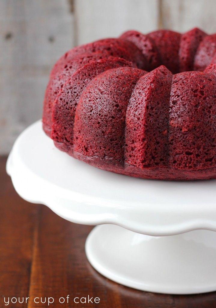 Red Velvet Sour Cream Bundt Cake Recipe Sour Cream