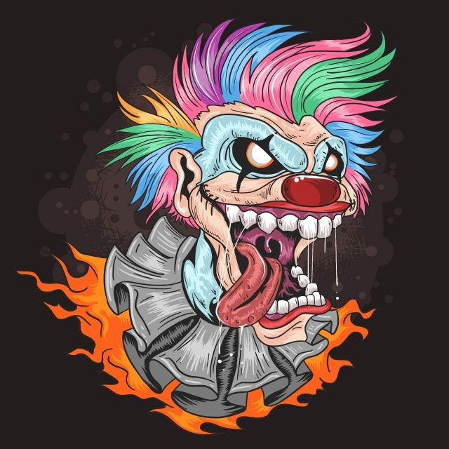 Scary Clown Face Png
