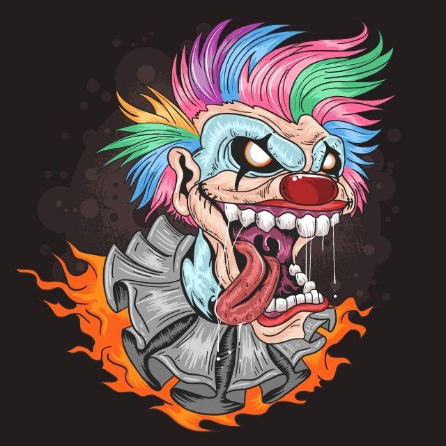 Clown Joker Smile Hair Design Illustration Joker Png And Vector With Transparent Background For Free Download Illustration Scary Clowns Joker Smile