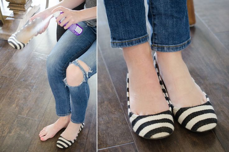 Pulvérisez du shampooing sec dans vos chaussures pour éviter que vos pieds ne transpirent et sentent mauvais