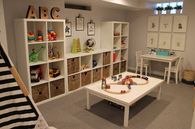 Kids playroom with Ikea storage
