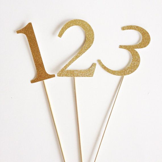The 25 best table numbers for wedding ideas on pinterest for Glitter numbers for centerpieces