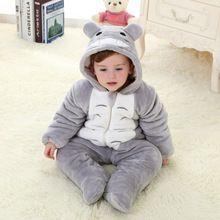 2015 kış bebek kalınlaştırmak giysi pazen bebek çocuk giysileri karikatür hayvan kız tulum arabacılarla bebek tulum bebek giyim(China (Mainland))