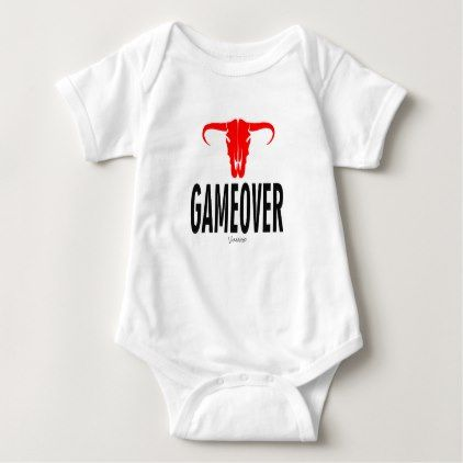 Game Over & Bull by VIMAGO Baby Bodysuit - Xmas ChristmasEve Christmas Eve Christmas merry xmas family kids gifts holidays Santa