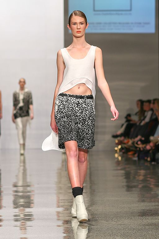 taylor 'Incision' Collection at NZFW - Atmosphere Tunic and Fluide Shorts and Linear Belt