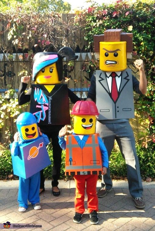 Roxanne: My husband and I have done family theme costumes since having kids(this is our forth year!) My kids(3 and 4) still haven't objected to my family theme costume craze ideas....