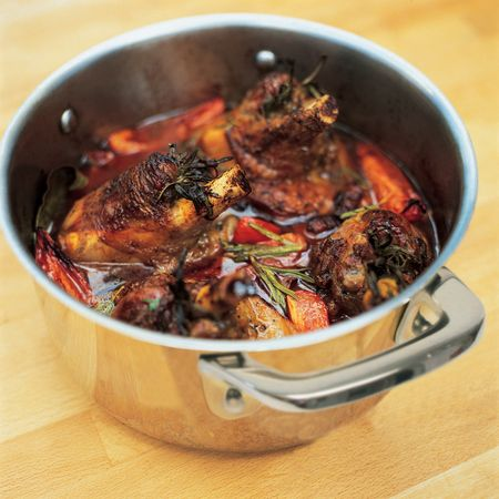 Jamie Oliver has revealed his brilliantly simple lamb shanks recipe flavoured with rosemary, pancetta and bay leaves.