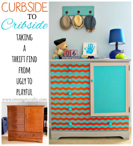 This thrift dresser rescue is another sneak peek at my nursery reveal - tutorial included!
