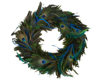 Inspired Interiors... Live Beautifully: Holiday Decor... Inspired by Peacock Feathers