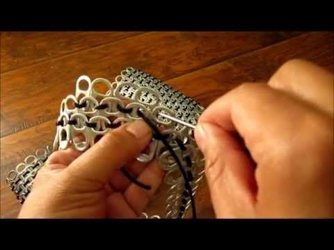 ▶ Como hacer una bolsa con anillas de lata: Bolsa Interesante Parte 1 - YouTube