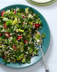 Four-Herb Tabbouleh: This delightful tabbouleh, which uses Israeli couscous in place of bulgur, follows the Lebanese tradition of including more herbs than grain. Grace Parisi adds both parsley and lovage, which has a light, bright flavor similar to celery leaves.