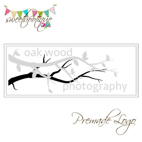 FULLY CUSTOMISABLE  Premade Logo  Oakwood by SweetBootique on Etsy