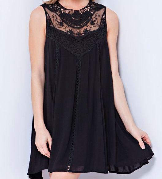 black boho crochet lace dress – paper hearts
