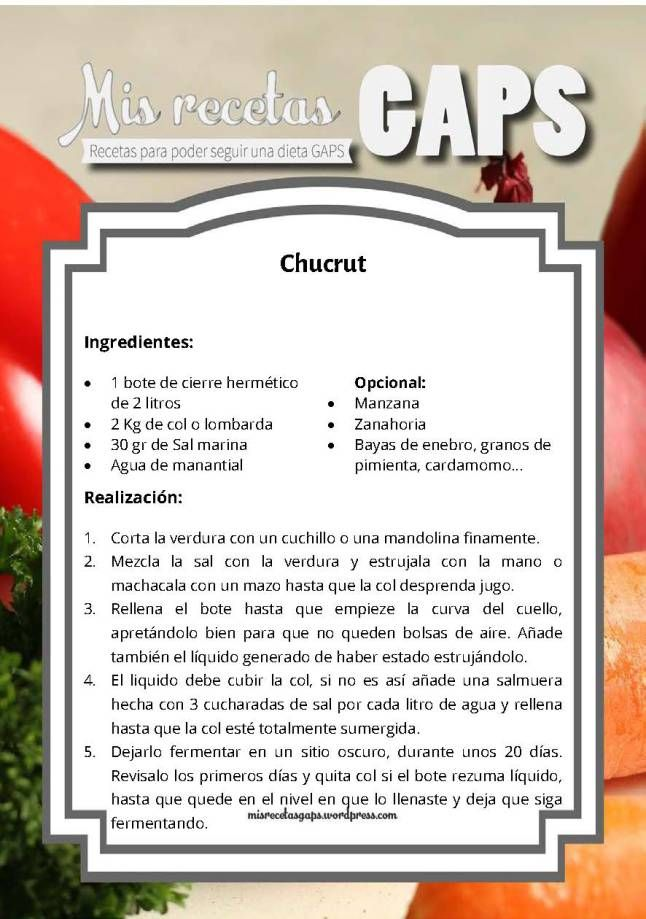 Chucrut receta