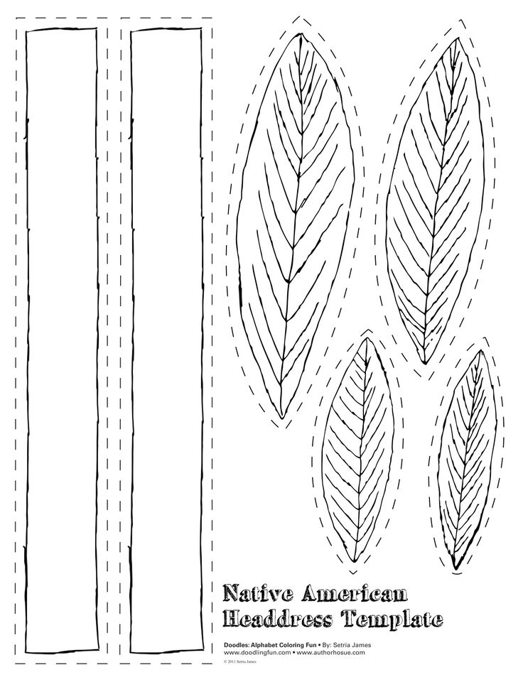 Printable Indian Head Band Template