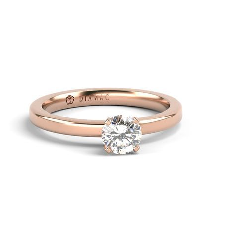 Inel de logodna aur roz S26RO-18R - DIAMAG