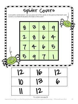 Halloween Math Games, Puzzles and Brain Teasers is a collection of Halloween Math from Games 4 Learning. It is loaded with spooky math fun and is perfect for October math activities.