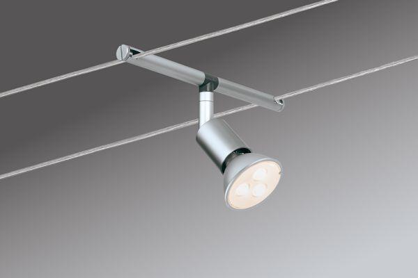 spot led sur cable ou fil tendu PAULMANN 5*4W SaltLed