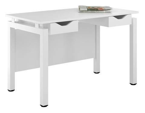 Arctic White Desk Writing Desk With Double Drawers Ideal For Storing  Stationary   Width 1200mm /