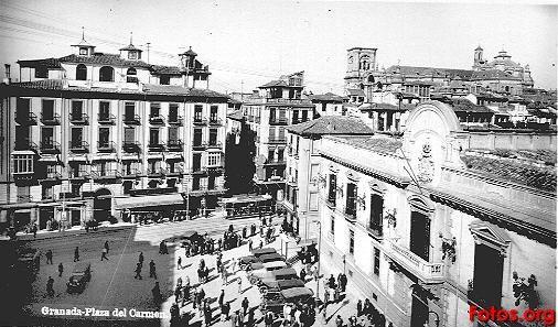 Plaza-del-Carmen-1930-Granada-antigua1