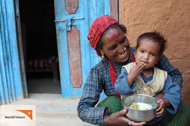 Little Sabina from #Nepal's life had a shaky start. Her mother Chutka was weak throughout her pregnancy. When Sabina was born, Chutka didn't understand the importance of good nutrition, so Sabina wasn't as healthy as she should have been. With help from #WorldVision, Chutka learned about the most nutritious foods to feed Sabina & now she is healthy and happy!