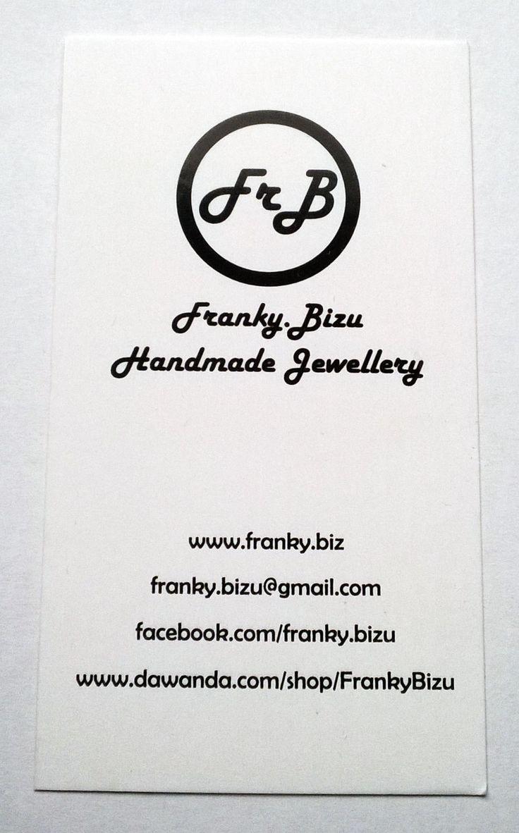 Projekt i wykonanie prostych, eleganckich wizytówek. Jeżeli szukasz unikalnej biżuterii to Franky.Bizu ma coś dla Ciebie ;)! #wizytowki #poligrafia #foliamatowa