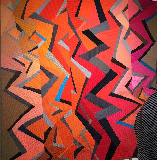 Quilt in the Color Improvisations 2 exhibit by Nancy Crow