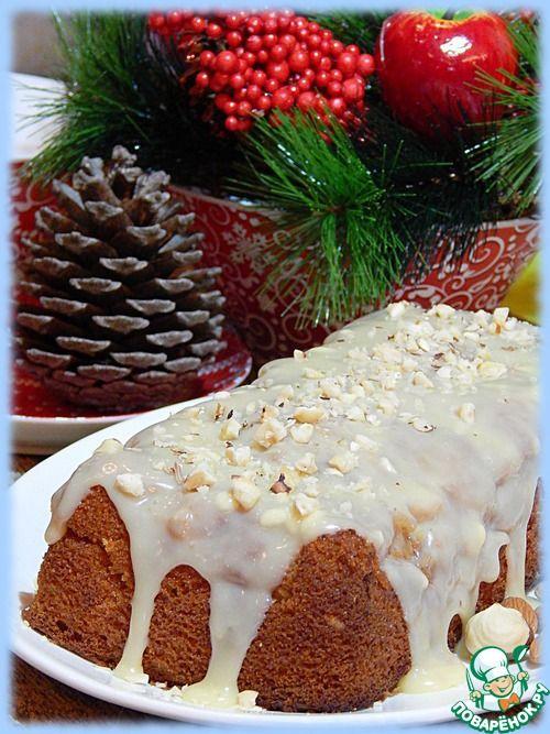 Глазированный ванильный кекс с начинкой - кулинарный рецепт