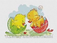 Пасхальный цыпленок и утенок