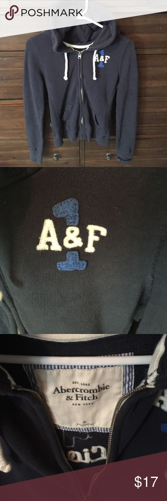 Womens zip up hoodie Never worn Abercrombie and Fitch navy zip up hoodie Abercrombie & Fitch Tops Sweatshirts & Hoodies