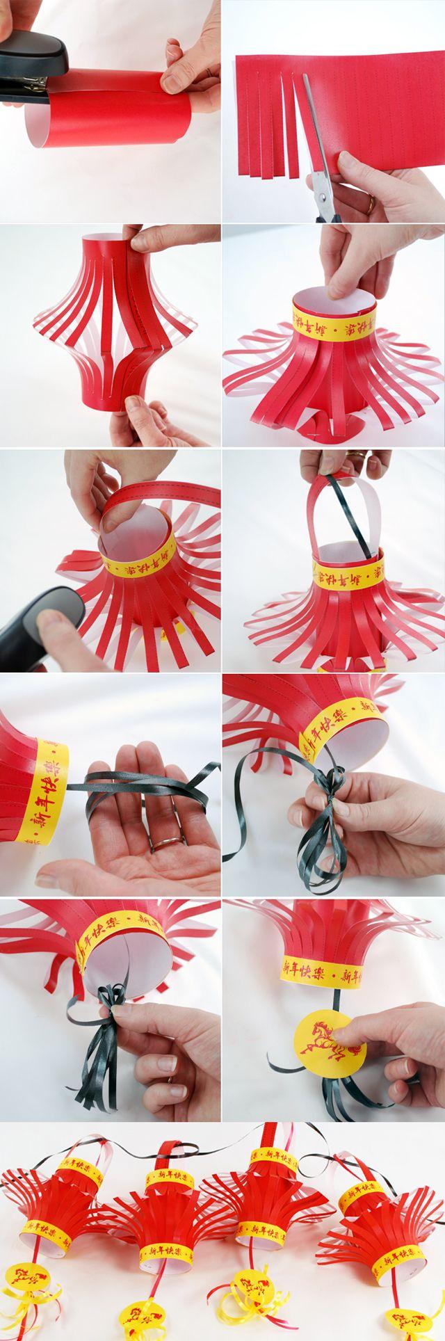 How to Make Chinese Lanterns - Free Printable! #chinesenewyear