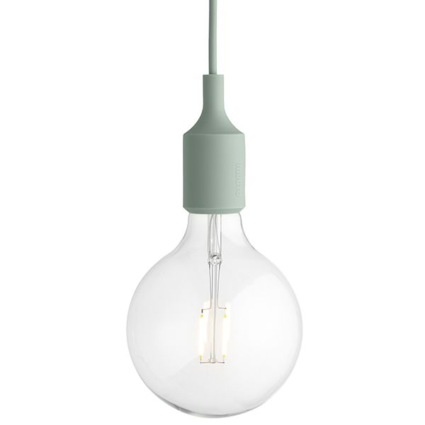 The E27 light, designed by Mattias Ståhlbom, has become one of Muuto's most iconic designs. The reduced pendant is composed of a large led bulb and a matt socket with a matching cord that come in array of both muted and vibrant colours.