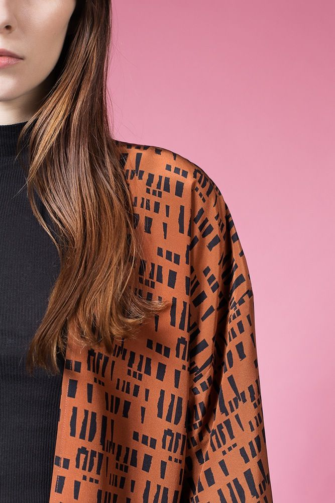 AH/OK - Tabacco - Silk Kimono