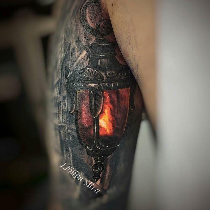 Lantern tattoo by @ifilipasilva at @tattoogalleryespinho in Espinho Portugal #ifilipasilva #tattoogalleryespinho #espinho #pprtugal #lanterntattoo #tattoo #tattoos #tattoosnob