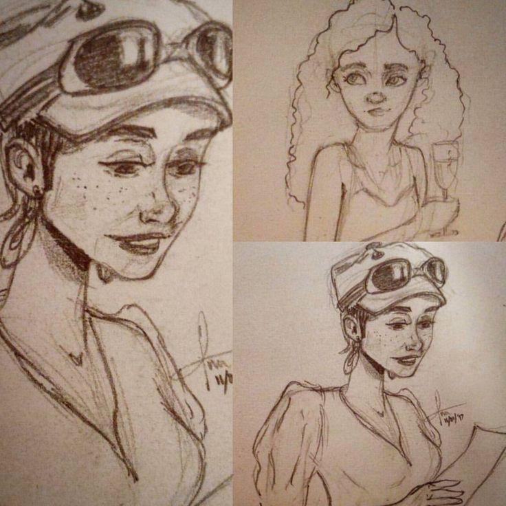 Sketching away.. #drawing #pencil #pencilsketches #girlsinanimation #lazystarttonewyear #needtokeeppushing #needtokeepitup