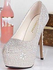 Women's Shoes Round Toe Stiletto Heel Pumps wit... – NOK kr. 327