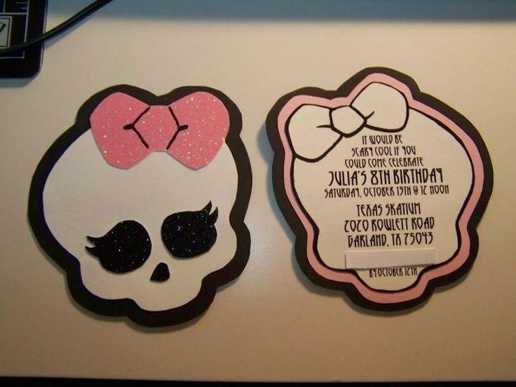 Festa Monster High, convite