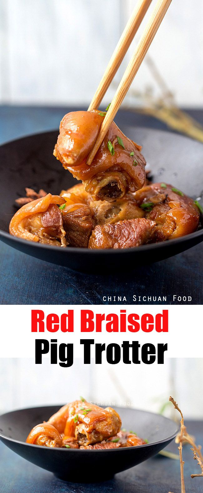 212 best chinese taiwanese food recipes images on pinterest asian red braised pig trotter chinasichuanfood forumfinder Image collections