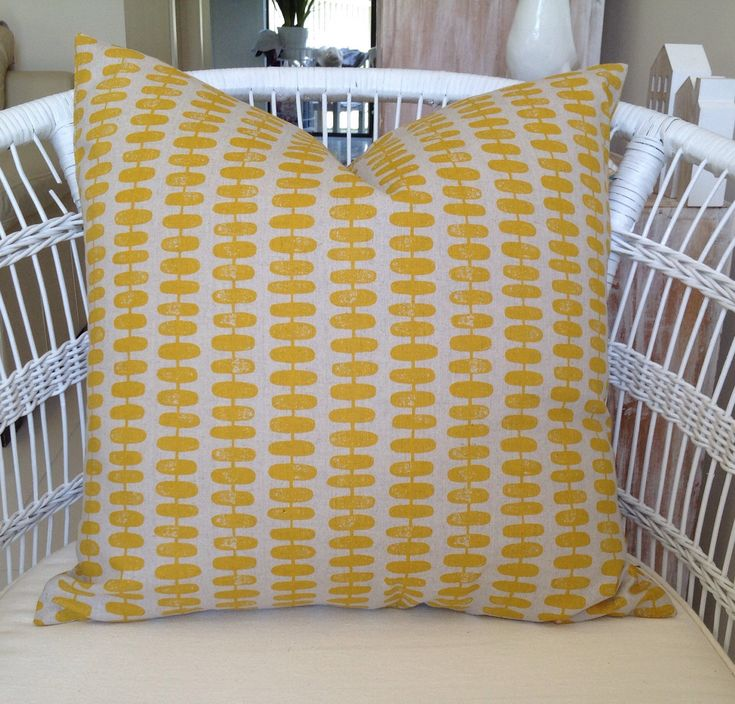 A personal favourite from my Etsy shop https://www.etsy.com/au/listing/586094763/yellow-retro-cushion-cover