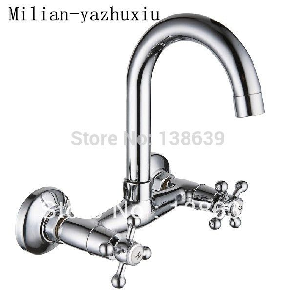 wholesale Wall Mounted Kitchen Faucet Hot and Cold Mixer bathroom kitchen mixer tap basin faucet,bathroom products