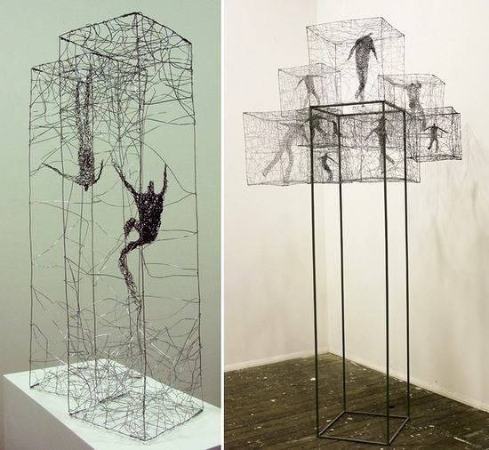 Barbara Licha's wire sculptures