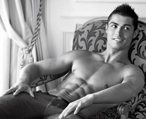 Cristiano Ronaldo  Age: 29  Weight: 176  Height: 6'1″  Team: Portugal  What I Like: The abs, on abs, on abs. And his sexy hair...