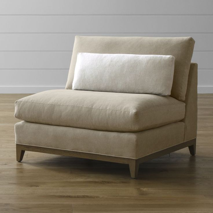 25 best ideas about armless chair on pinterest white for Crate and barrel armless chair