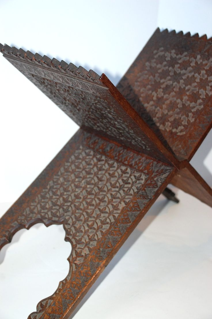 Hot Moon Collection - Carved Koran Stand 19c, $985.00 (http://shop.hotmooncollection.com/carved-koran-stand-19c/)