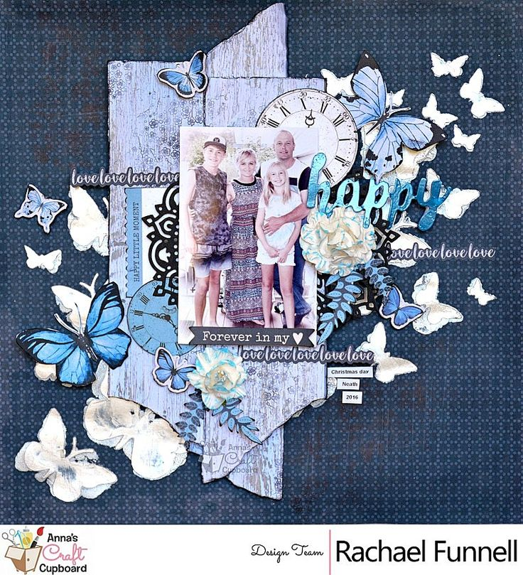 Hi There!   Today I have 1 more share as part of my April DT work for Anna's Craft Cupboard  using the gorgeous Kaisercraft 'Indigo Skies' ...